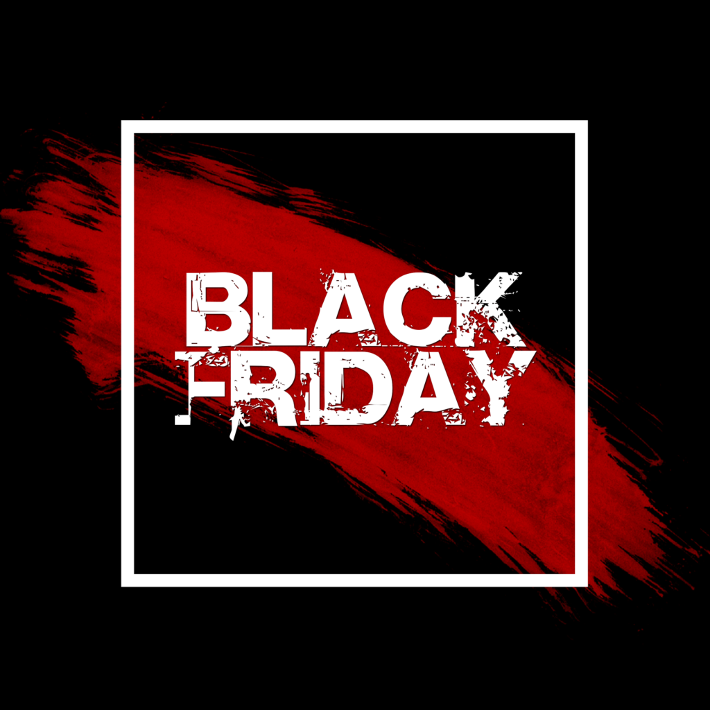Black Friday Logo with red