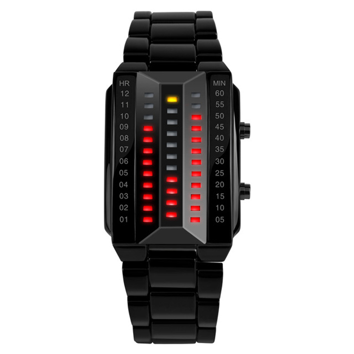 Zegarek binarny diody LED - na prezent