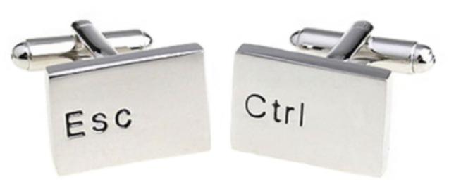 Spinki do mankietów z klawiszami Esc i Ctrl