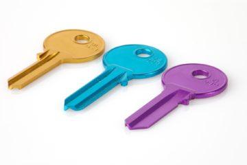 trzy kolory klucz SSH
